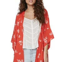 Billabong Shadow Play Kimono - Womens Shirts - Red -