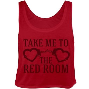 50 Shades of Red Room Crop Top