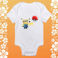Minion Pikachu Pokemon shirt baby Onesuit,  Minion Pikachu Pokemon baby Onesuit, shirt baby Onesuit, baby Onesuit