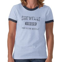 1969 Chevelle Apparel T Shirts from Zazzle.com