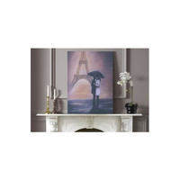 Graham & Brown Kissing In Paris Painting Print on Canvas