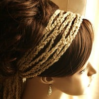 Crochet Mesh Headband and Neck Wrap PICK by BehindMyPicketFence