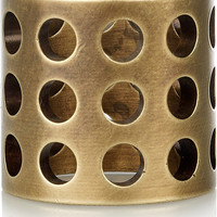 Kelly Wearstler Perforated burnished-brass ring – 50% at THE OUTNET.COM