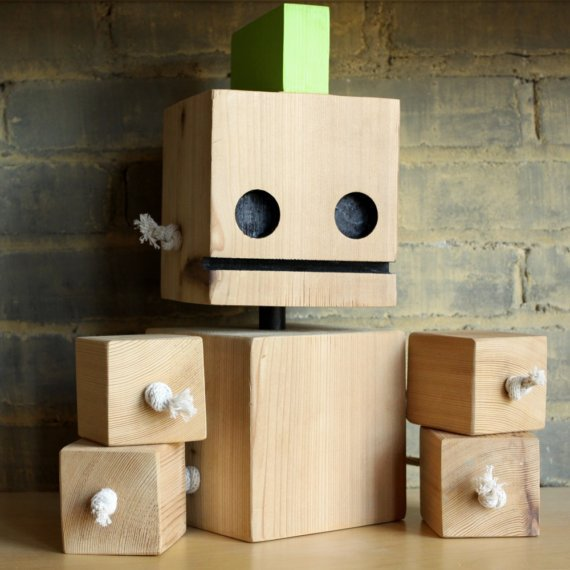 LIMITED EDITION XL Punk Block Bot made from by WilliamDohman