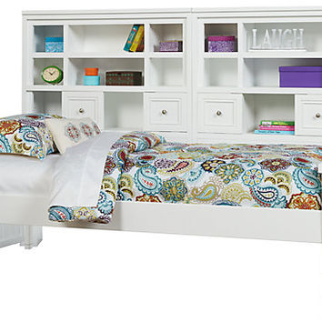 Cottage Colors White 5 Pc Full Bookcase Wall Bed