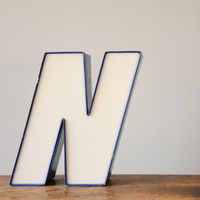 Vintage Channel Letter N