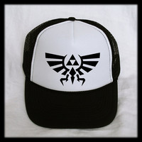 Triforce Trucker Hat Cap Mesh Snap Back Snapback Gamer - Inspired by Zelda