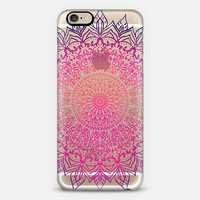 HAPPY BOHO MANDALA - CRYSTAL CLEAR PHONE CASE iPhone 6 case by Nika Martinez | Casetify