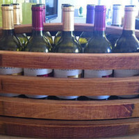 suzisfarmhousefinds — Barrel Stave Wine Basket