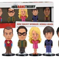ROCKWORLDEAST - Big Bang Theory, Bobbleheads, 5 Piece Mini Set