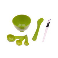 DIY Beauty Set Gauge Mask Stick Bowl Brush 4 in 1 Beauty Tool Sets Green
