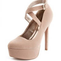 X-Front Velvet Platform Pump: Charlotte Russe