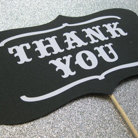 Thank You Wedding Sign Photo Booth Props by olivetreemonograms