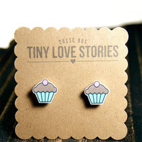Chocolate Frosted Cupcake Earrings from Tiny Love Stories