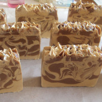 Nag Champa Type with Shea Butter, Cocoa Butter, Pure Silk and Goats Milk Soap Slice  / cold process soap Ready For October 12th