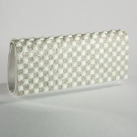 Pearl and Stone Flap Clutch