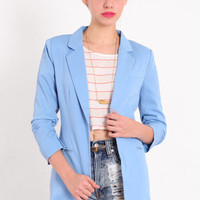 Sweet 16 Ruched Blazer - &amp;#36;59.00 : ThreadSence.com, Your Spot For Indie Clothing &amp; Indie Urban Culture