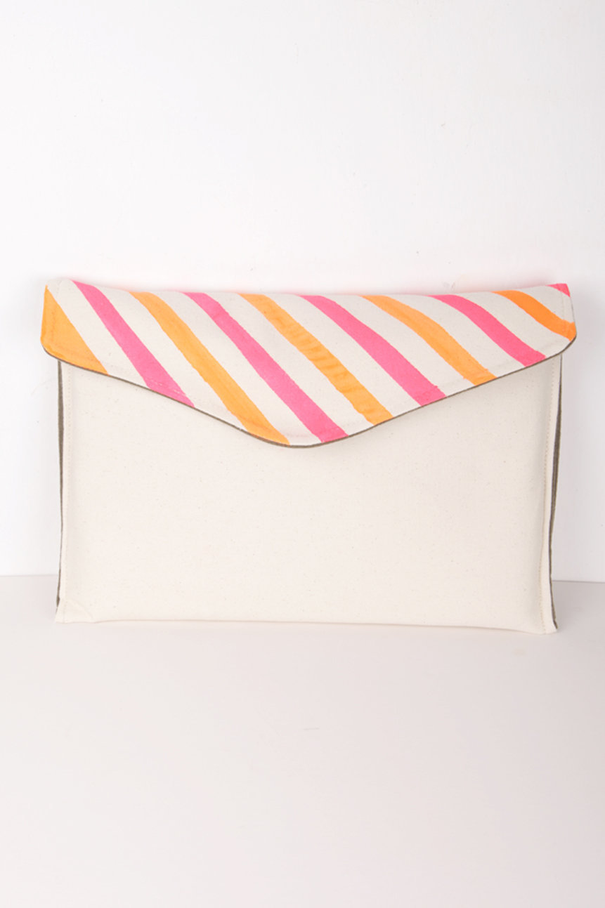 MacBookPro Sleeve With HandPrinted Neon Stripes, Tinge Singapore | Unique Lifestyle Products