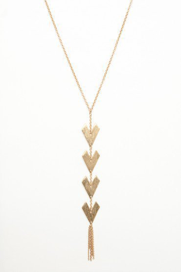 Arrow Tassel Necklace - ShopSosie.com