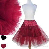 NEW Red Wine 50s SWING Dress Petticoat CRINOLINE S M L XL 1X 2X 3X Rockabilly