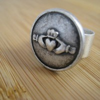 Claddagh Silver Ring Handmade Irish Love Friendship and Loyalty by marleyjanedotcom on Etsy