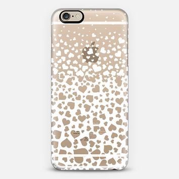White Field Of Hearts iPhone 6 case by Organic Saturation | Casetify