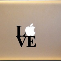LOVE Macbook Decal Vinyl Sticker for Laptop CHOOSE Your Color L2 | MakeItMineDesigns - Techcraft on ArtFire