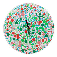 COLOR BLIND CLOCK | color blind clock, wall art, home decor, Ishihara color test | UncommonGoods