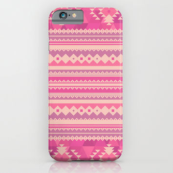 Pink Aztec iPhone & iPod Case by Ornaart