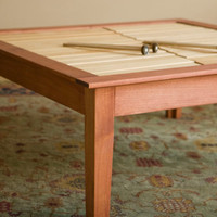 Coffee Table with two musical wood xylophone keyboards