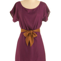 Plum-believable Dress | Mod Retro Vintage Printed Dresses | ModCloth.com