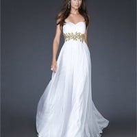Elegant Strapless Sweetheart with Appliques A-line Floor Length Chiffon Prom Dress PD2116 Dresses UK