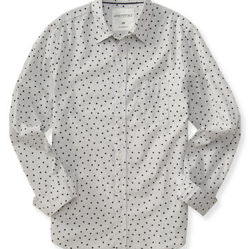 Aeropostale  Long Sleeve Circle Grid Woven Shirt