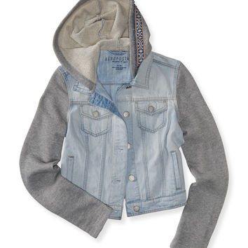 Aeropostale  Light Wash Pieced Denim Jacket