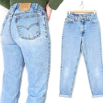 LEVI'S 912 Women's Slim High Waisted Jeans - Size 9 - 1990s 100% Cotton