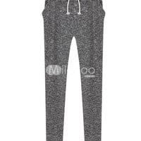 Grey Withdraw Cotton Woman's Harem Pants -  Milanoo.com