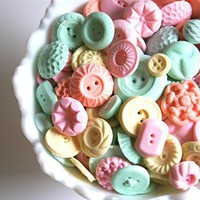 Candy Buttons 50 Pastel Peppermint -by Andie&#x27;s Specialty Sweets