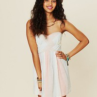 Free People Striped Burlap Tube Dress