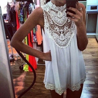 Lace Mini Dress, Lace Top, Lace Blouse, Lace Swimsuit Cover Up, Summer Top.