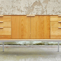 WFOUR Design Sideboard - Cherry/Gloss White