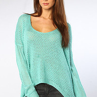 The Lynn Sweater in Seafoam
