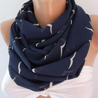 Seagull - Infinity Scarf Loop Scarf Circle Scarf -It made with good quality CHIFFON  fabric. Super Loop