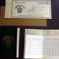 Harry Potter Gringotts Bank Book &amp; Deposit Slips by writtenbysanta
