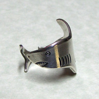 Silver Shark Ring
