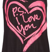 FULL TILT PS I Love You Girls Tank