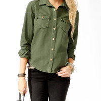 Embellished Americana Utility Shirt