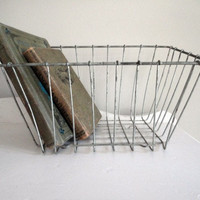 Vintage Wire Basket by hilltopcottage on Etsy