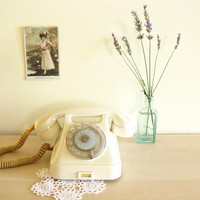 Vintage Creamy Telephone on Etsy by mycherrytree on Etsy