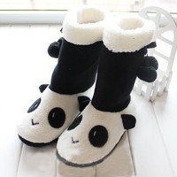 Cute Cartoon Foot Warmer for Women,Panda Boots