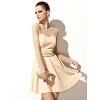 French Chanson Wave Point Veil Mini Dress Dress
